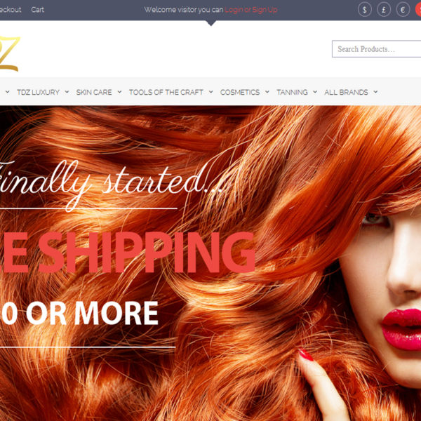 Trendz Salon Ecommerce Website